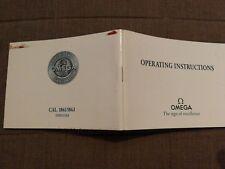 Operating instructions Omega speedmaster PRO cal. 1861 & 1863 circa 1999