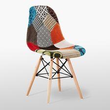 Moda patchwork Eiffel chaise pour salle à manger salon - Tissu rétro vintage