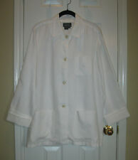 RALPH LAUREN Gorgeous White Linen Blouse ~ SZ L