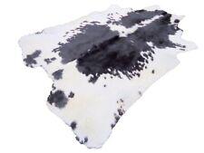 NEW LARGE Black n White Cowhide Rug natural Cowhides Cow Hide Skin 6X6 FT BwS.