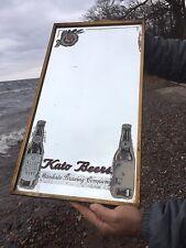 Vintage Kato Beer Sign Mirror Mankato Brewery Minn MN W/ Bottle Graphic