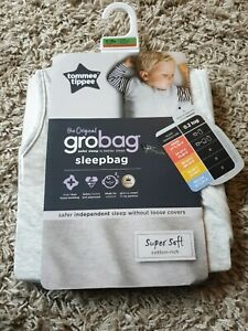 Tommee Tippee The Original Grobag Grey Marl 6-18m 0.2-1Tog Steppee SEE PICS