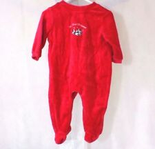 Circo One-Piece Bodysuit Boys Girls Size 3-6 Month 1st Christmas Long Slv Red