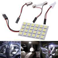 24 LED 5050 SMD Car Interior Light Panel Bulb T10 Dome BA9S Adapter Festoon Lamp