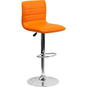 Flash Furniture Orange Contemporary Barstool, Orange - CH-92023-1-ORG-GG