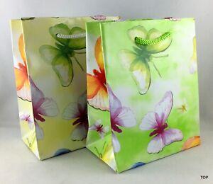 Gift Bag 51680 Butterflies Birthday 11 x 13,5 X 6 CM