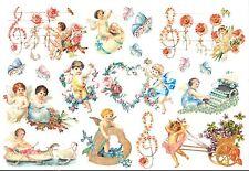 Papier de riz DFS060 Fleurs et Ange Rice Decoupage Paper Angel Flower serviette