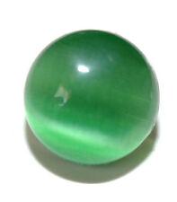 GREEN CAT'S EYE FIBER OPTIC GLASS TIE PIN TACK (036)