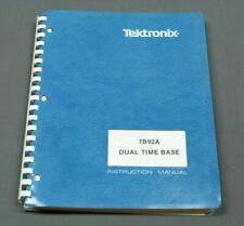 Tektronix 7B92A Dual Time Base Instruction Manual w/ schematics, EXC