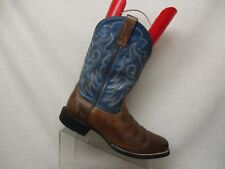 Ariat Blue Brown Leather Cowboy Western Boots Men Size 8 EE Style 10005970