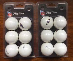 Baltimore Ravens NFL Team Table Tennis Balls Franklin 2 Packs of 6