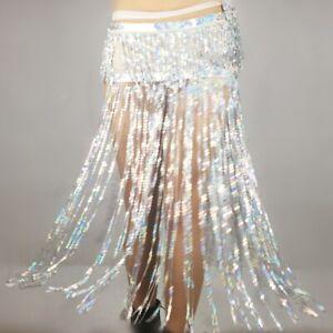 Sequin Tassel Fringe Sexy Skirt Belly Dance Long Hip Scarf Belt Waist Wrap Skirt