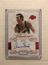 2013-14 Panini Flawless Jerry West Auto Lakers HOF Autograph /15 SSP RUBY
