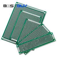 10PCS Double Side Prototype PCB Bread board Tinned Universal FR4 2x8/9x15cm BBC