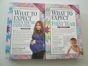 WHAT TO EXPECT WHEN YOU'RE EXPECTING & THE FIRST YEAR LOT 2 PAPERBACKS Pregnancy