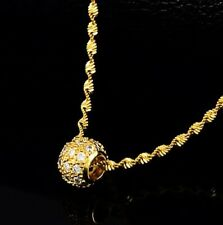 "18k Yellow Gold Women's Elegant Snake Link 18"" Chain Necklace W Giftpkg D714"