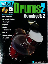 Fast Track Drums Vol 2 - Songbook 2 - Learn to Play The Drums Book & CD - New !
