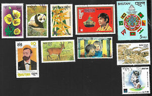 Bhutan collection of high value commemoratives postally used