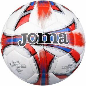 NEW - JOMA DALI FOOTBALL SOCCER BALL TRAINING WHITE / RED -  SIZE 5 FREEPOST