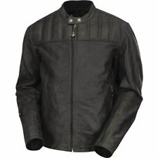 NEW RSD Roland Sands Design Enzo Leather Motorcycle Jacket - Black L Large