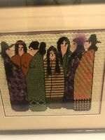 South American Completed Framed Needle Point  21 1/2x 19 1/2