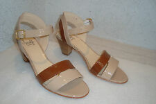 Amalfi By Rangoni Womens NWOB Miropat Beige Brown Patent Leather Shoes 6 MED NEW
