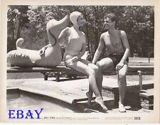 Joyce Reynolds leggy, Russ Ford barechested VINTAGE Photo Girls School