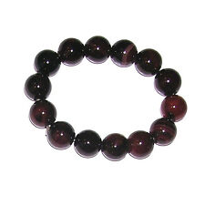 """Asian Elastic Stretch Bracelet. Beads w/degrees of brown colors. 6"""" Relaxed. 51g"""