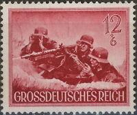Stamp Germany Mi 879y Sc B263 1944 WW2 Fascism Army Machine Gun Wehrmacht MNH