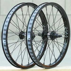 CULT BMX CREW v2 FRONT or CASSETTE BICYCLE WHEEL BLACK RHD/LHD