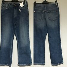 Ex M/&S Limited Edition High Waisted Flare Jeans 10R Dark Blue
