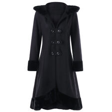 Womens Coat Gothic Jacket Black Steampunk Victorian Corset Women Plus Military