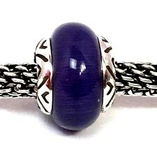 Authentic Brighton Transform Bead, J9624C, Silver Finish, Tanzanite, New