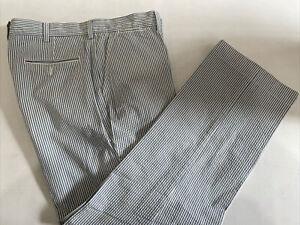 Polo Ralph Lauren Men's Blue Striped Cotton Dress Pants 40X30 $98