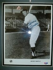 Mickey Mantle Autographed Photo with Custom Frame, PSA/DNA, Signed, Father's Day