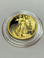 2001-W American Gold Eagle Proof 1/4 oz $10 in Air-Tite Capsule