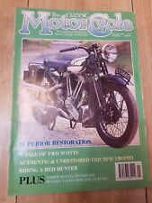 The classic motorcycle magazine triumph trophy the hunter