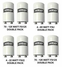 2 Flourescent Starter Unit For Lamps 4-65W, 70-125W, 100-125W Watt Fluorescent