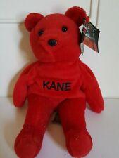 WWF Attitude Beanie Bears Kane Red Bear NWT 1999 Vintage