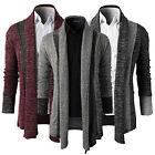 New Men's Fashion Knitted Cardigan Jacket Slim Long Sleeve Casual Sweater Coat