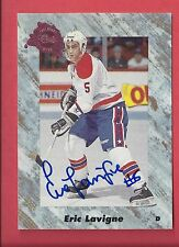 1991 Classic Draft Picks Eric Lavigne Autographed Card