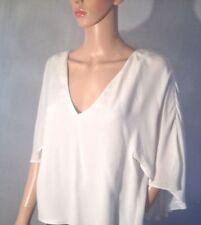 Zara Chiffon Collarless Tops & Shirts for Women
