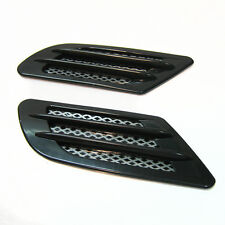2x Black Wing Air Side Vent Trim Intake Fender Cover Duct Flow Grille New