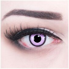 Coloured Contact Lenses Purple Lunatic Contacts Color Carnival + Free Case