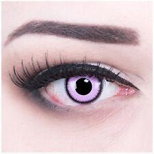Coloured Contact Lenses Purple Lunatic Contacts Color Carnival + Free Case