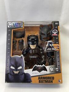 Armored Batman W/Lighte Up Eyes (9 Parts) Die Cast Metal *NEW Self Wear