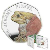 JEREMY FISHER  BEATRIX POTTER Coloured Silver Proof Next Day Delivery