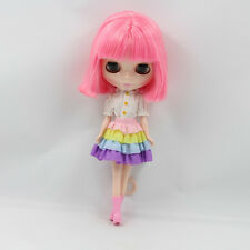 """Takara 12"""" Neo Blythe Pink Hair Nude Doll from Factory TBY77"""