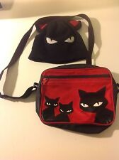 Emily The Strange  Purse Black Cat   2001 & Hat