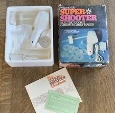 WearEver SUPER SHOOTER Electric Cookie Press Wear Ever Cutter in box